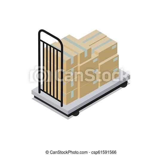 Construction Transportation Vector Illustration - csp61591566