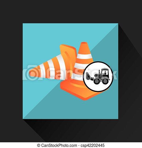 construction truck concept road cone design - csp42202445