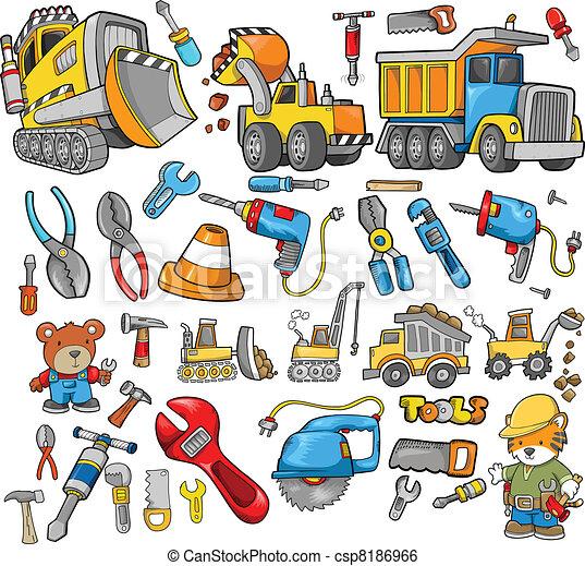 construction, vecteur, éléments conception - csp8186966