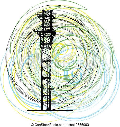 construction, vecteur, crane., résumé - csp10566003