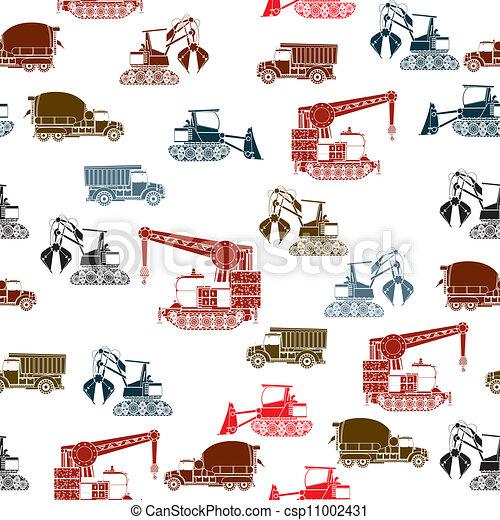 Construction vehicles pattern - csp11002431