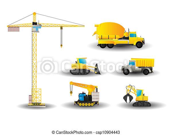 Construction vehicles set - csp10904443