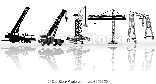 Construction vehicles - vector collection  - csp3220620
