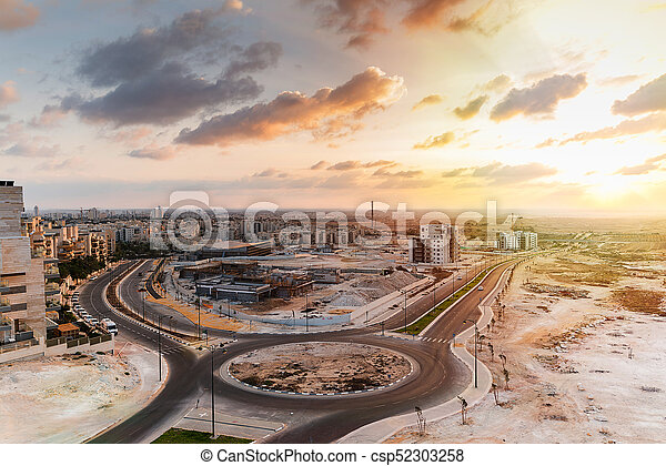 construction work in the desert - csp52303258
