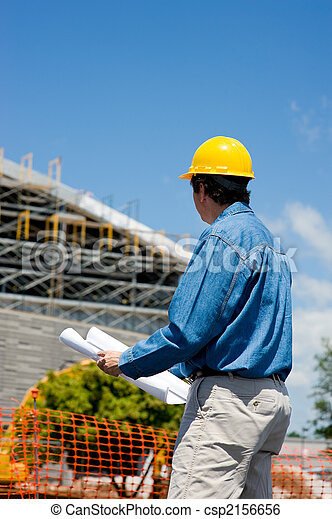 Construction Worker at Site  - csp2156656