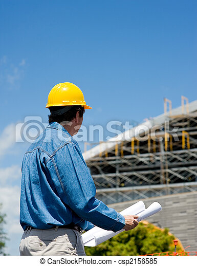 Construction Worker at Site  - csp2156585