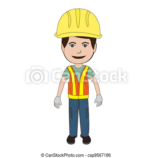 Construction Worker Illustration Of A Clip