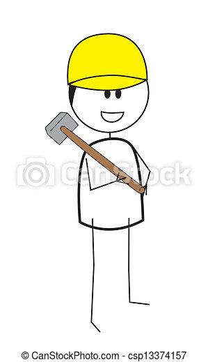 construction worker - csp13374157