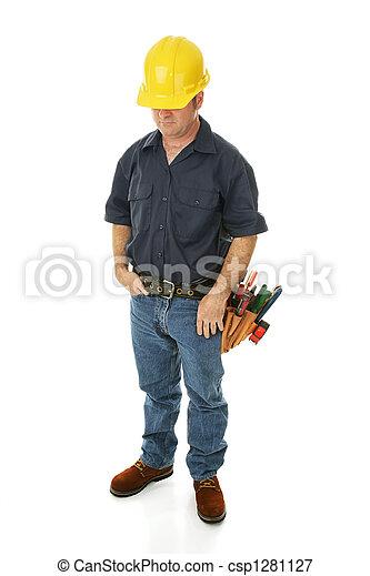 Construction Worker Depressed - csp1281127