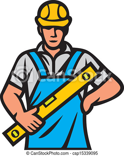 Construction Worker Man Builder Eps Vectors