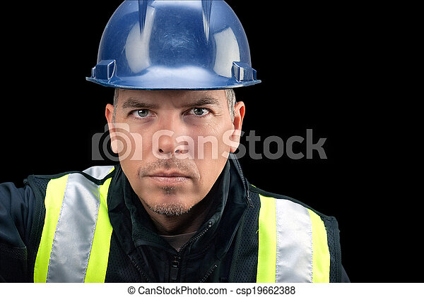 Construction Worker Looks To Camera - csp19662388