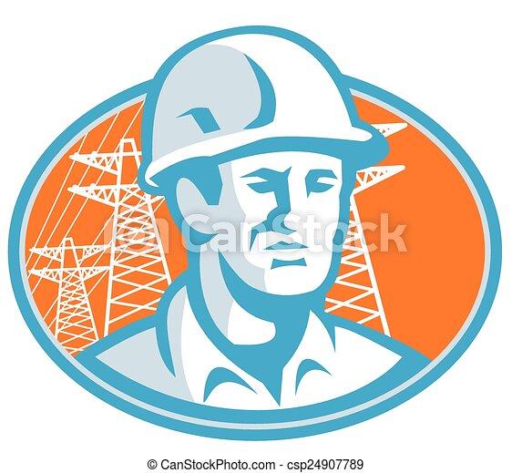 construction-worker-pylon - csp24907789