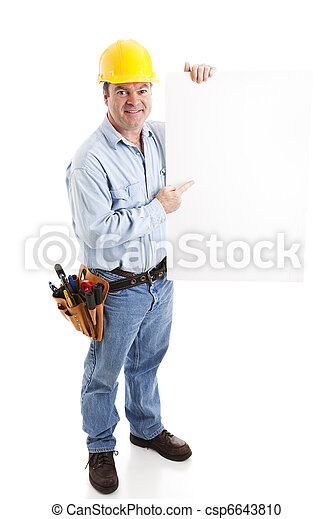 Construction Worker - Sign - csp6643810