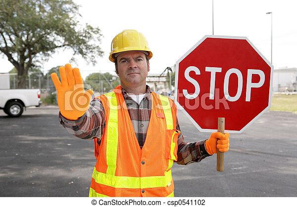 Construction Worker Stop - csp0541102