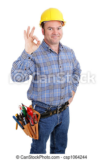 Construction Worker Success - csp1064244