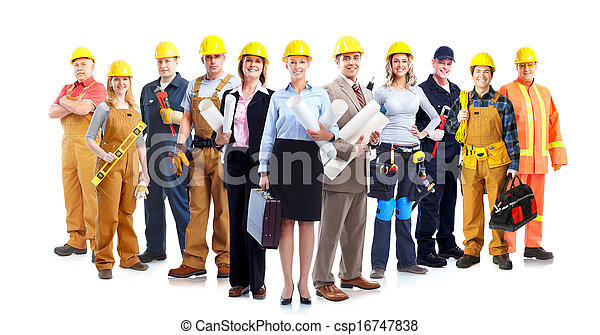 Construction workers group. - csp16747838