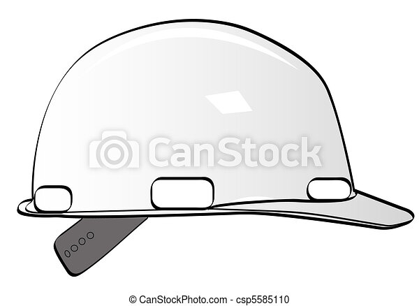 Construction Workers Hard Hat On White
