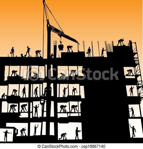 construction workers vector - csp18867140