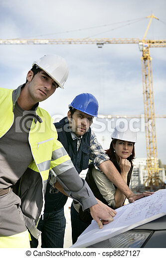 construction, workteam, site - csp8827127