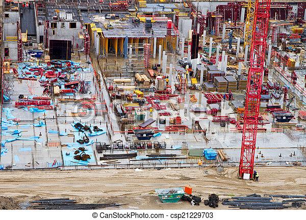 Construction yard - csp21229703