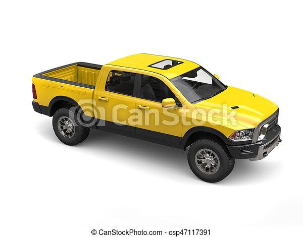 Construction Yellow Modern Pick Up Truck