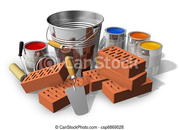 Construcción/concepto de renovación de casas - csp6869528