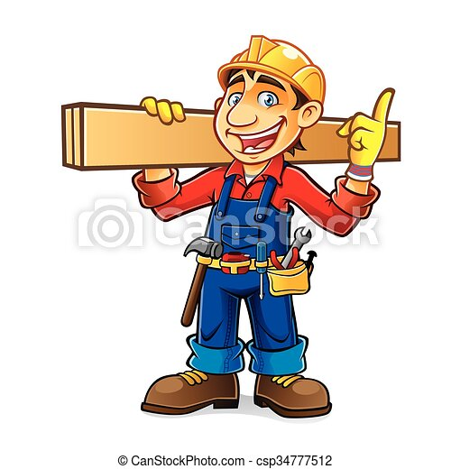 Idea de constructor de dibujos animados - csp34777512