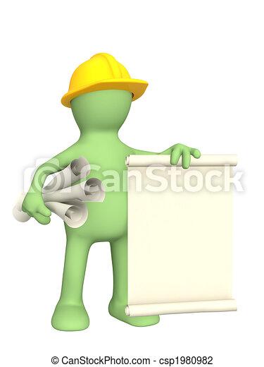 3d constructor con rollos de documentos - csp1980982