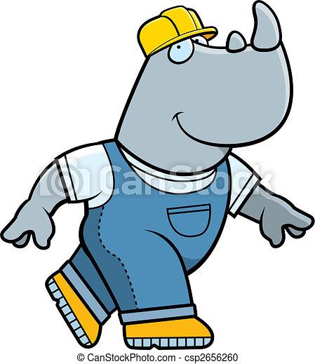 Constructor de rinocerontes - csp2656260