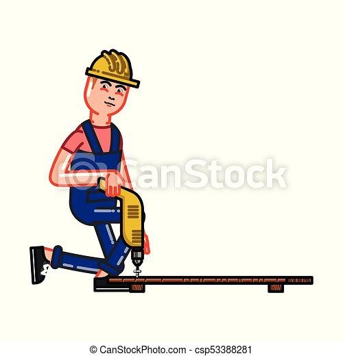 El constructor funciona con un taladro - csp53388281