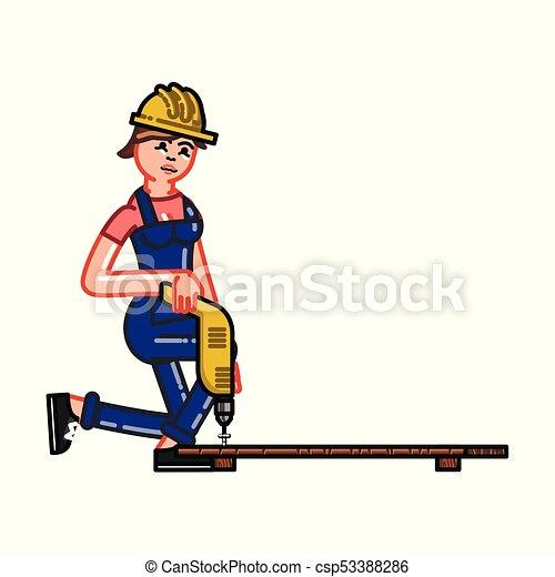 El constructor funciona con un taladro - csp53388286