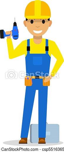 Constructor de dibujos animados con un destornillador - csp55163651