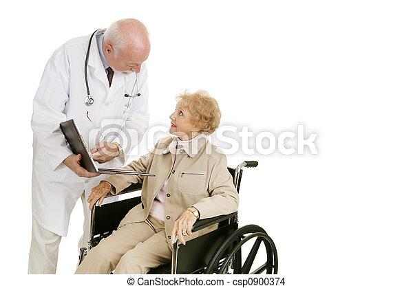 consulta, paciente, doutor - csp0900374