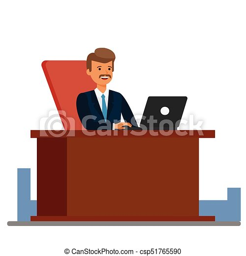 Consultant Working At Office Cartoon Flat Vector Illustration Concept On Isolated White Background