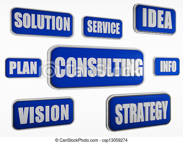 consulting - blue business concept - csp13059274