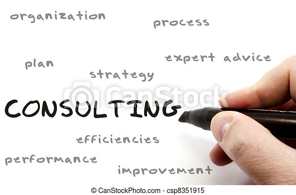 Consulting concept on Dry Erase Board - csp8351915