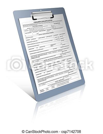 Consumer loan application  - csp7142708