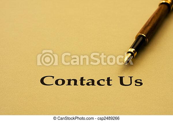 Contacta con nosotros - csp2489266