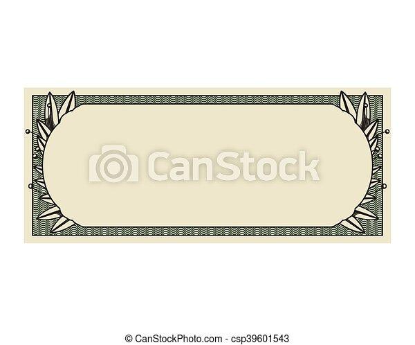 conta, dólar, isolado, selo, impressão, ícone - csp39601543