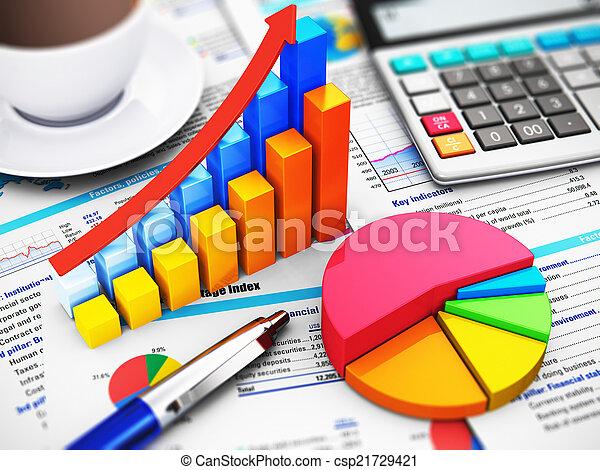 Negocios, finanzas y concepto de contabilidad - csp21729421