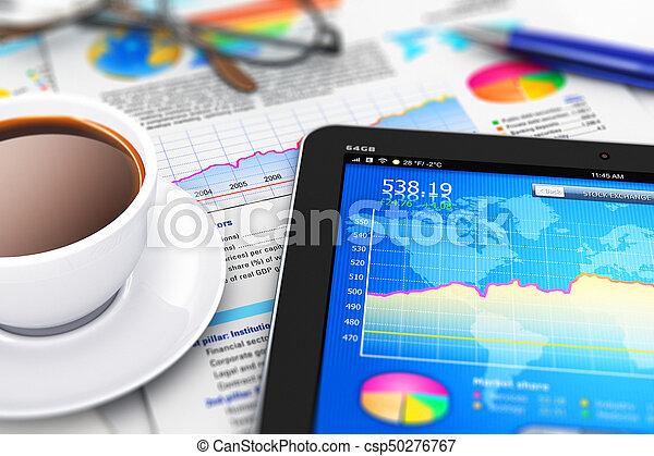 Negocios, finanzas y concepto de contabilidad - csp50276767