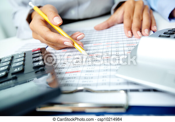 contabilidad, notas - csp10214984