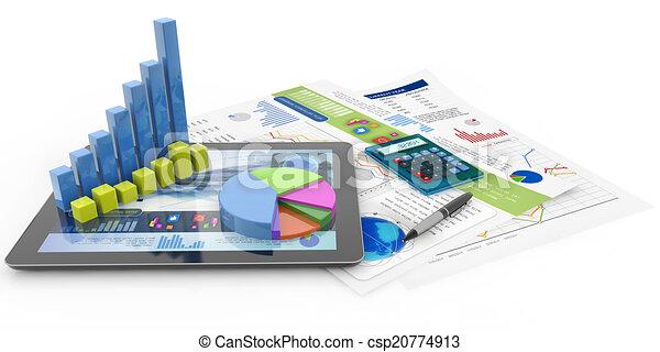 contabilidade, conceito, financeiro - csp20774913