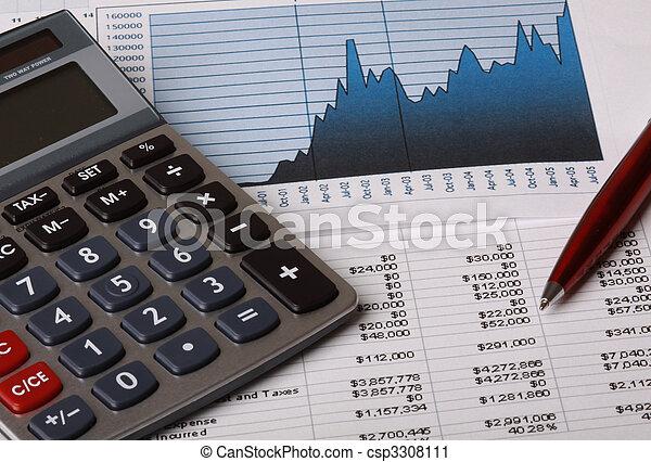 contabilidade, negócio - csp3308111