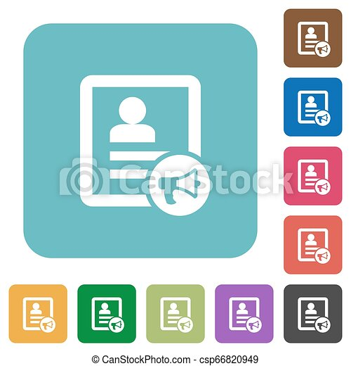Contact alarm rounded square flat icons - csp66820949