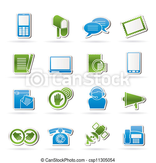 Contact and communication icons - csp11305054