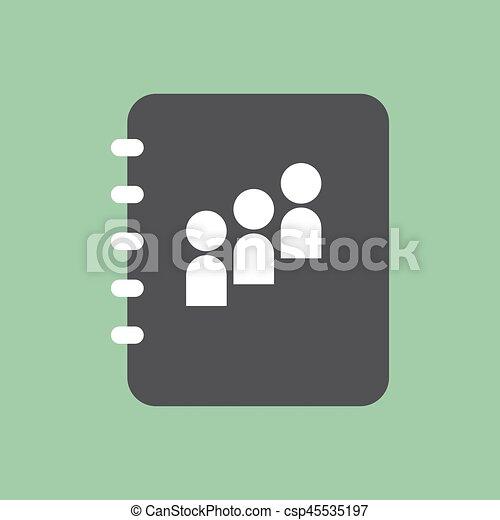 Contact book icon - csp45535197