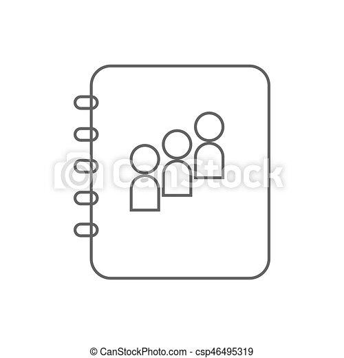 contact book icon - csp46495319