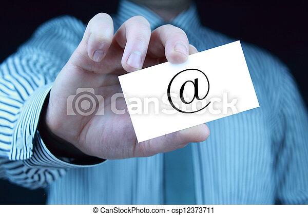 contact - business card - csp12373711