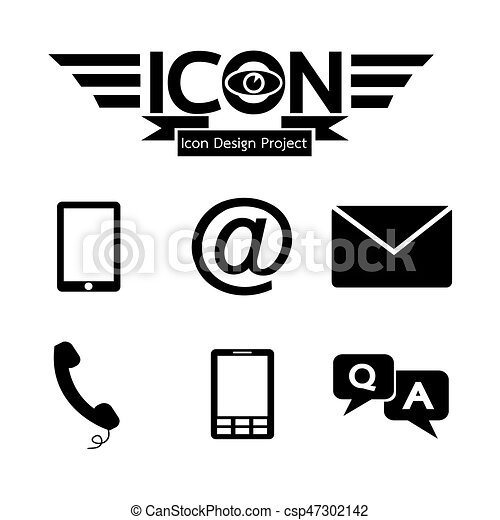 Contact button icon - csp47302142